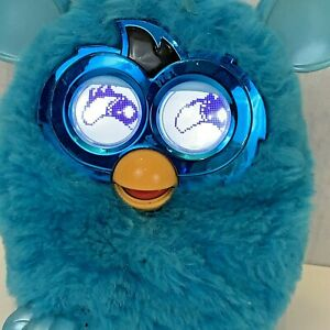 Furby Boom Electronic Interactive Pet Toy Blue Teal 2012 Hasbro Tested Working