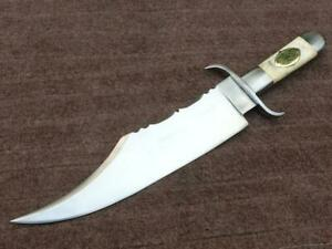 Hight CarboSTEEL  HUNTING Bowie KNIFE WITH  steel BOLSTER HANDLE and Bone