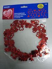 Valentinstag Hochzeit Deko Girlande Herzen rot Folie ca. 2,7 m