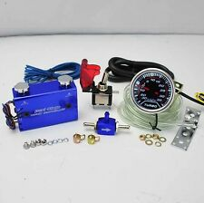 """BLUE DUO SETTING ROCKET SWITCH TURBO BOOST CONTROLLER +2"""" LED 35PSI BOOST GAUGE"""
