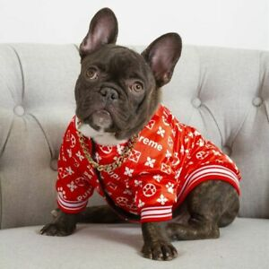 French Bulldog Hoodie Dog Clothes Warm Sport Cozy Patterned Pet Puppy Pugs Coat