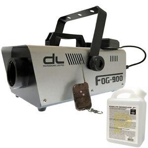 DL 900w Fog Smoke Machine with Wired and Wireless Remote Control w 1L Liquid