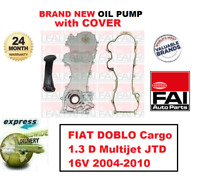 FOR FIAT DOBLO Cargo 1.3 D Multijet JTD 16V 2004-2010 BRAND FAI OIL PUMP + COVER