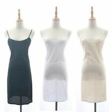 Damen Chiffon Riemchen Unterkleid Schmal Kleid Unterrock Petticoat Nachthemd
