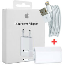 CARICA BATTERIA Caricatore ORIGINALE PER APPLE IPHONE 5 6 7 MD813ZM/A + CAVO USB