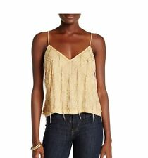 Free People Gatsy Crossover Back Tank Top Mango Size Small NWT