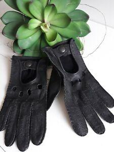 Handschuhe Autohandschuhe Lederhandschuhe Leder schwarz