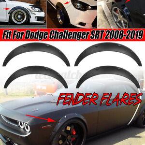 4x 3.5'' Front Rear Wheel Fender Flares Body Kit For Dodge Challenger SRT 08-19