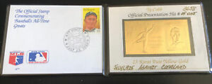 1989 HOF LEGENDS - Ty Cobb $20 23 Kt GOLD STAMP  & $2 Stamp FIRST DAY OF ISSUE