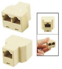 RJ45 Splitter Adapter 1 to 2 Dual Female Ethernet LAN Network Coupler