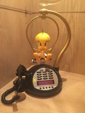Vintage Tweety Bird Phone Radio Alarm Clock Not Tested