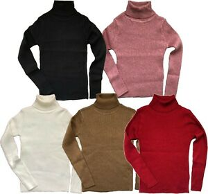 Girls NEXT Knitted Ribbed Polo Neck Roll Neck Jumper Top Cosy Essential 3-16y