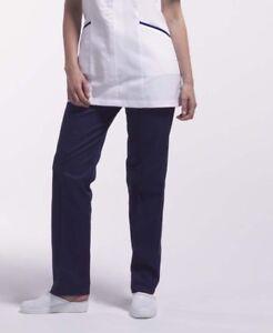 Ladies healthcare trousers, beauty work office uniform black Navy trouser-T73