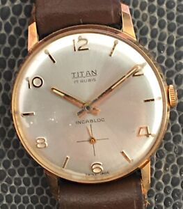 NOS New Titan Fhf 82 Hand Manual 1 3/16in FHF82 Vintage Watch Gift