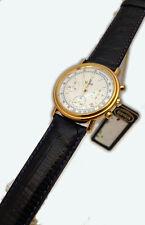 VETTA OROLOGIO UOMO CRONOGRAFO ORO MASSICCIO 18 KT PELLE WATCH MAN GOLD CHRONO