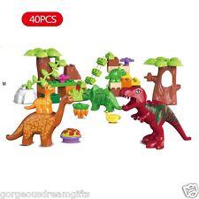 Dinosaurs Egg Fossils Toy Animals Animal Bundle Set Compatible w/ Duplo® bricks