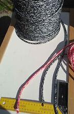 15m X 7mm BLACK&WHITE DOUBLE BRAID DYNEEMA® RACING MARINE ROPE SHEET Ten:1600kg