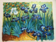 Hand-painted Oil Painting On Canvas Vincent Van Gogh  Irises Repro 28cmX24cm