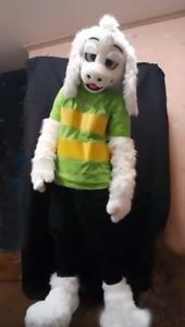 Mid long fur one husky fox mascot costume walking Halloween Costume role play99#