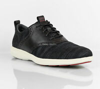 Cole Haan Grand Tour Knit Oxford Casual Shoes Black Ivory C31345 Men's size 10.5