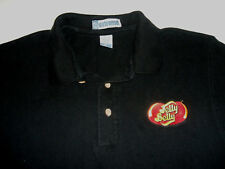 Jelly Belly Jelly Beans Candy Embroidered Black Polo Shirt Men's Large Cotton