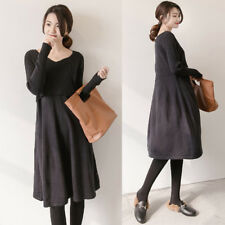 Breastfeeding Nursing Dress Knitted Pregnancy Maternity Loose Comfy Elegant S-XL