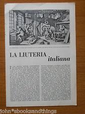 1949 LA LIUTERIA ITALIANA STRADIVARI LIUTO VIOLINO CREMONA
