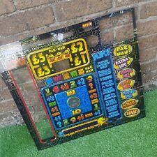 VINTAGE Pac-Man Fruit Machine Gambling Front Plastic Panel Man Cave Jackpot
