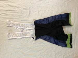 XS Men's Dornier Hincapie Cycling Bib Short Navy Blue/Green CLOSEOUT