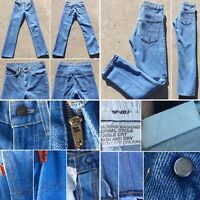 "Vintage Levi's Orange Tab Jeans 28 X 31 1/2"" 1970s 80s 70s SF 207"