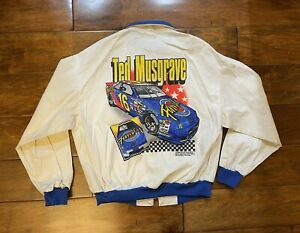 Ted Musgrave #16 Family Channel Racing Windbreaker Jacket Mens Size Large NASCAR