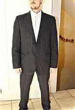 bonito traje negro de rayas HUGO BOSS cooper/reno T 56 pantalones 50/52 francés