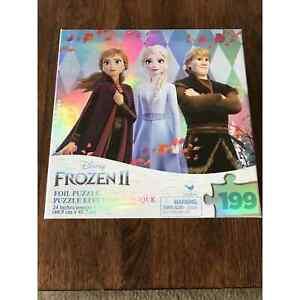 Disney Frozen 2 Movie 199 Piece Metallic Foil Puzzle ELSA ANNA KRISTOFF