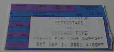 Ticket for collectors Metrostars NY - Chicago Fire 2001 USA United States