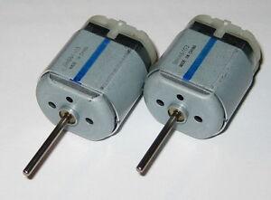 2 X Mabuchi 12V FC-280 DC Motor - 10k RPM - Long 21mm Shaft - Push-in Terminals