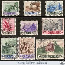 1950 San Marino - Posta Aerea Vedute n. 83/91 Usati