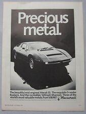 1981 Maserati Original advert No.1