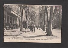 Postcard - View Of The Cours Mirabeau Thoroughfare, Aix-En-Provence France