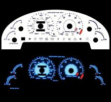 NEW 93-97 Ford Probe L4 Blue Indiglo Glow White Gauges 93 94 95 96 97