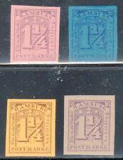 Hamburg, Sc#9, 1873/96, 4 Goldner Fantasy Color Reprints, VF, OG, *UNcommon*