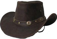 Genuine Cowhide Leather Western Cowboy Hat Brown # 2695