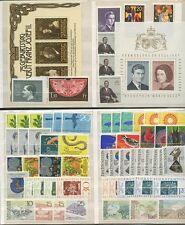 LIECHTENSTEIN 1963-81 UNMOUNTED MINT 20 SETS + 2 SHEETS..60 stamps 47 SWISS FACE