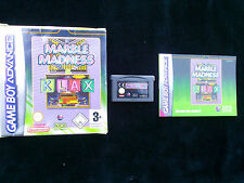 JEU Nintendo Game Boy Advance : MARBLE MADNESS & KLAX (complet, suivi)