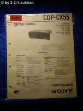 Sony Service Manual CDP CX55 CD Player (#4090)