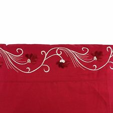 Western Floral Embroidery Roses Polyester Egyptian Style Sheet Set Red Queen