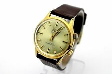 Vintage VULCAIN Alarm 17 Jewel Gold Tone Men's Dress Watch CLEAN
