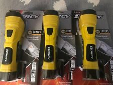 Dorcy 180 Lumen 500ft LED Flashlight 5 Hours Yellow Lanyard 3 Pack Batteries Inc