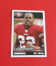 2012 Panini Football Carlos Rogers Sticker #417***San Francisco 49ers***