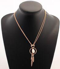 PILGRIM Kette Halskette Rosegold weiß Perlmutt Hippie ca. 45cm/90cm 211714011