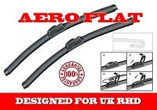 """FORD ESCORT 1990-2000 BRAND NEW AERO FLAT FRONT WINDSCREEN WIPER BLADES 20""""20"""""""